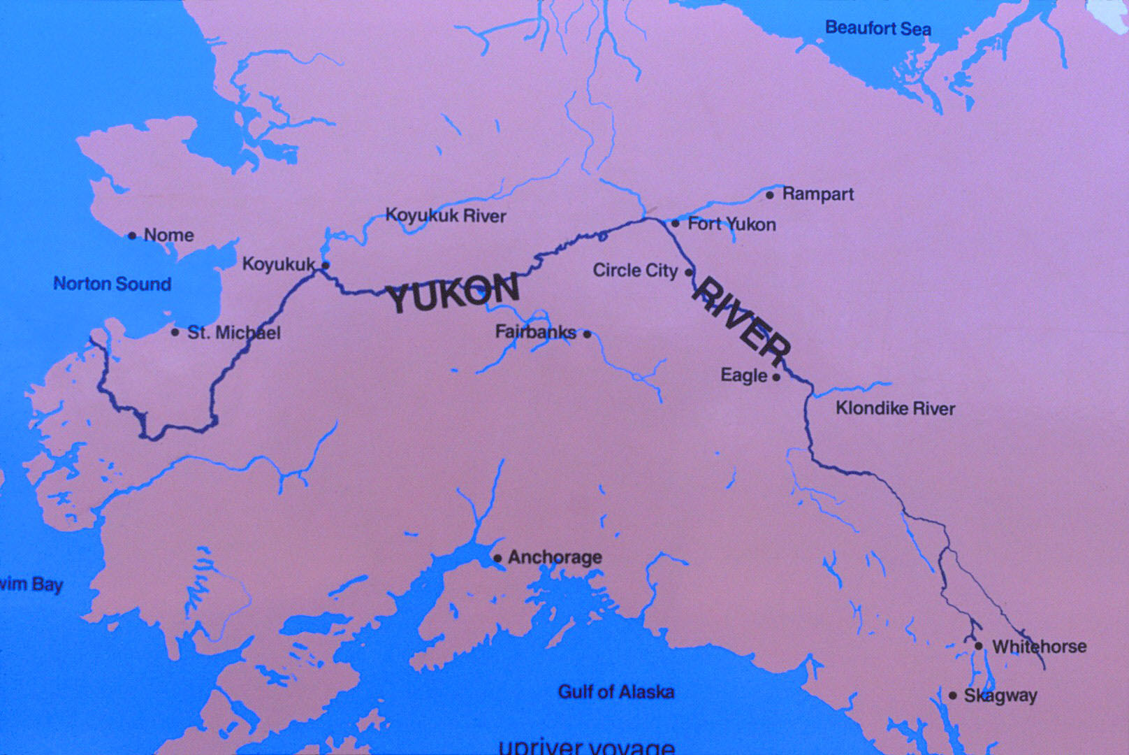 Fort Yukon Alaska Map.Yukon River Source To Bering Sea 1995 Overland Canoe